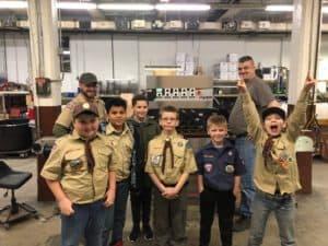 Pack 880 of the La Porte cub scouts
