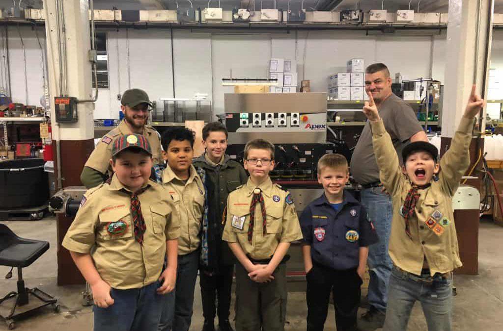 Pack 880 of the La Porte Boy Scouts