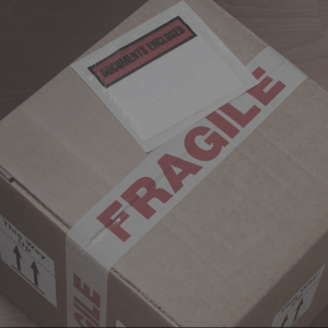Fragile package send your product to us