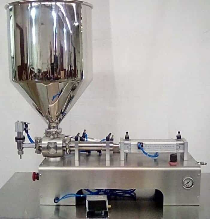 Semi Automatic Tabletop Piston Filler Machine